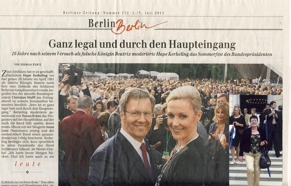 Gerda Gutberlet-Zerbe beim Sommerfest des Bundespräsidenten 2011