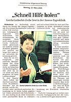 Hildesheimer Tageszeitung: Schnell Hilfe holen