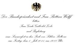 Einladung zum Bundespräsidenten