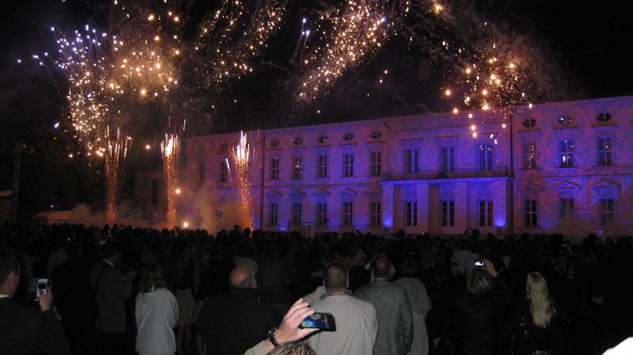 Feuerwerk auf Schloss Bellevue 2011