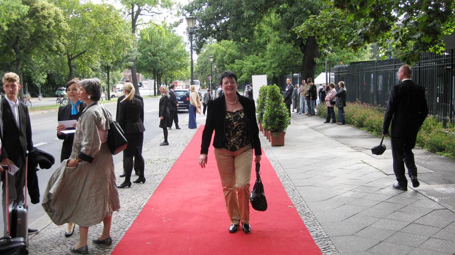 Auf dem roten Teppich in Berlin