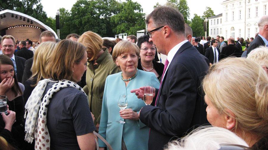 Kanzlerin bei Sommerfest des Bundespräsidenten