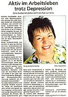Aktiv im Arbeitsleben trotz Depression - Gerda Gutberlet-Zerbe steht mit Rat zur Seite