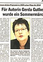 Für Autorin Gerda Gutberlet-Zerbe wurde ein Sommermärchen wahr